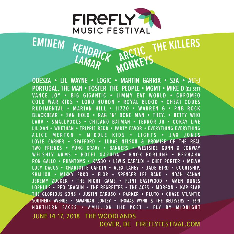 Firefly Music Festival Announces 2018 Lineup
