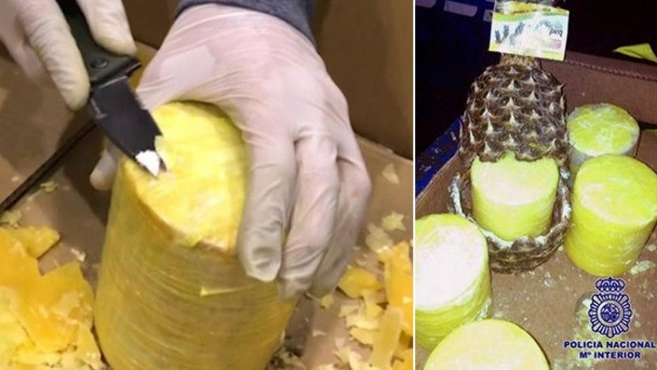 Police Find Over 1,600 Pounds of Cocaine Hidden in Pineapples