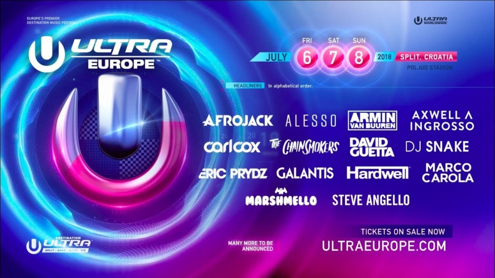 Ultra Europe Reveals Phase 1 of 2018 Lineup