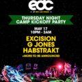 Excision, G Jones, and Habstrakt to Kickoff EDC Las Vegas at Camp Pre-Party
