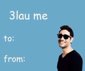 We Proudly Present: Last Minute, Poorly Made EDM Valentine's Day Cards