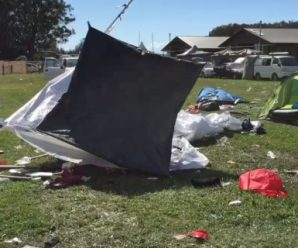 Splendour campsite left trashed and people aren't happy!