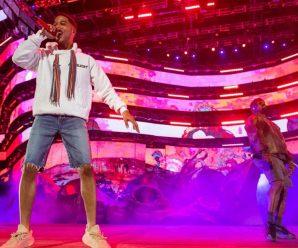 Kid Cudi brings out Kanye West throughout his Coachella weekend two set