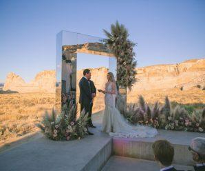 Tiësto and Annika Backes trade vows in Amangiri